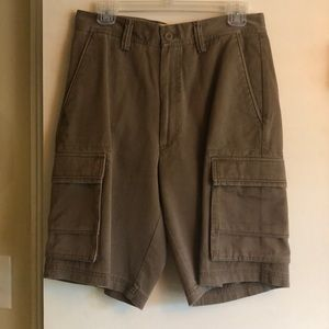 Men's Perry Ellis Brown Cargo Shorts NWT Size30W